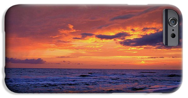 Panama City Beach Photographs iPhone Cases - After the Sunset iPhone Case by Sandy Keeton