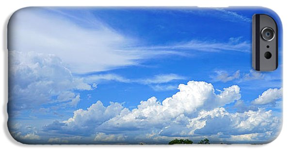 Mist iPhone Cases - Afternoon Clouds iPhone Case by David G Paul