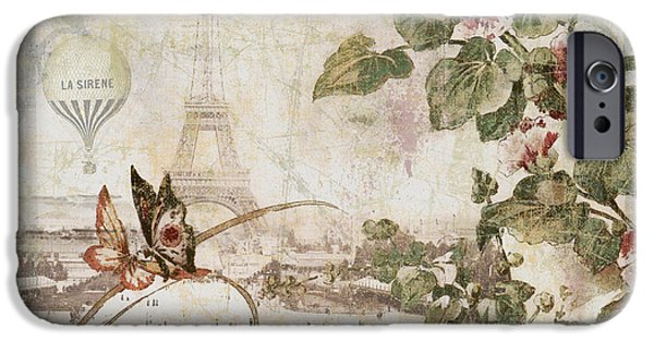 Hot Air Balloon iPhone Cases - Afternoon in Paris iPhone Case by Mindy Sommers