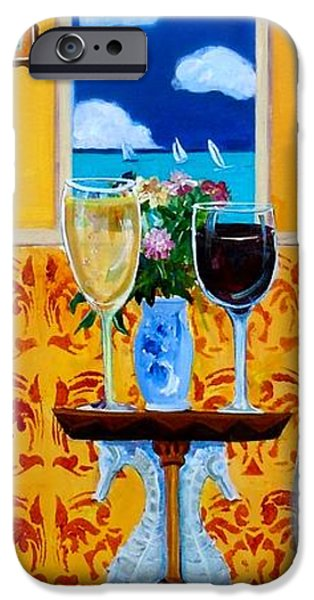 Table Wine iPhone Cases - Afternoon Regatta iPhone Case by Linda Kegley