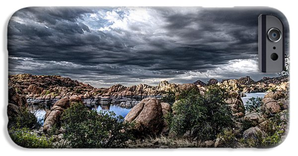 Watson Lake iPhone Cases - Afternoon Storm iPhone Case by Frank Cuva