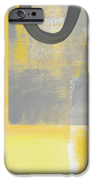 Geometric Art iPhone Cases - Afternoon Sun and Shade iPhone Case by Linda Woods