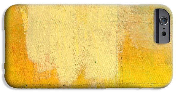 Yellow Abstracts iPhone Cases - Afternoon Sun -Large iPhone Case by Linda Woods