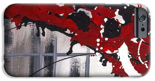Abstract Digital Mixed Media iPhone Cases - Against My Will  iPhone Case by Melissa Smith