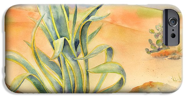 Sand Dunes iPhone Cases - Agave in Borrego iPhone Case by Amy Kirkpatrick