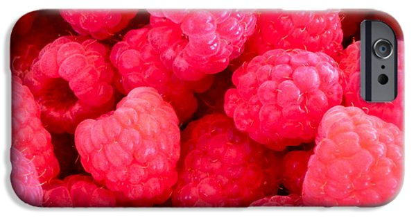 Raspberry iPhone Cases - Agenda for today ... raspberry jam iPhone Case by Gwyn Newcombe