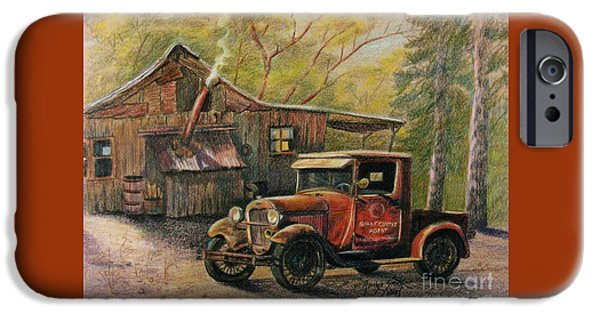 Shed Drawings iPhone Cases - Agents Visit iPhone Case by Marilyn Smith