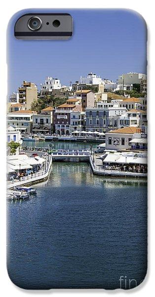 Bay Bridge iPhone Cases - Agios Nikolaos iPhone Case by Antony McAulay
