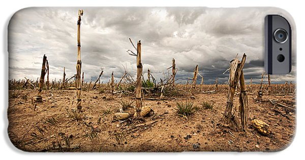 Industry iPhone Cases - Agricultural Wasteland iPhone Case by Scott Pellegrin
