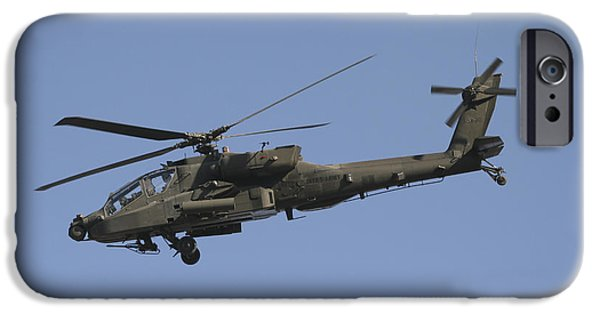 Iraq iPhone Cases - Ah-64 Apache In Flight Over The Baghdad iPhone Case by Terry Moore