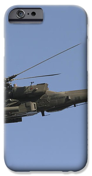 Ah-64 Apache In Flight Over The Baghdad iPhone Case by Terry Moore