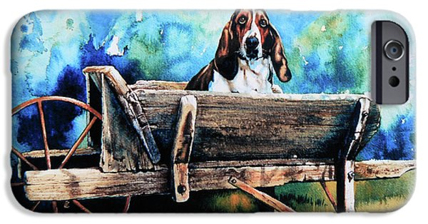 Dog Art Print iPhone Cases - Ah Pooey iPhone Case by Hanne Lore Koehler