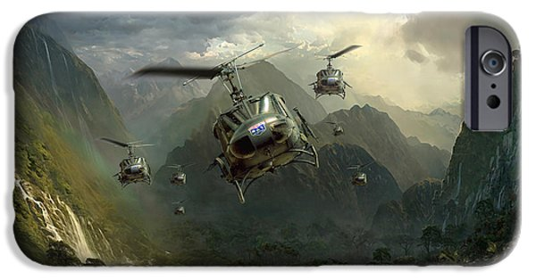 Marine iPhone Cases - Air Assault iPhone Case by Peter Van Stigt