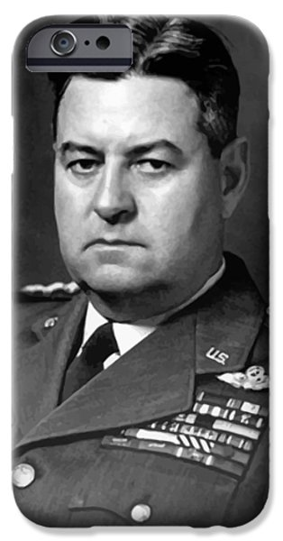 U.s Heroes iPhone Cases - Air Force General Curtis Lemay  iPhone Case by War Is Hell Store