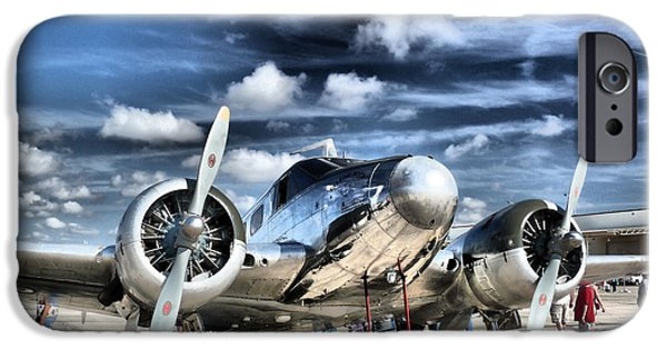Airplanes Photographs iPhone Cases - Air HDR iPhone Case by Arthur Herold Jr