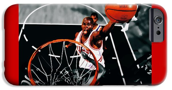 John Stockton iPhone Cases - Air Jordan Above the Rim iPhone Case by Brian Reaves