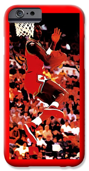 John Stockton iPhone Cases - Air Jordan Cradle Dunk iPhone Case by Brian Reaves
