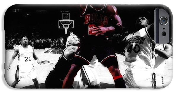 Carmelo Anthony iPhone Cases - Air Jordan Easy II iPhone Case by Brian Reaves