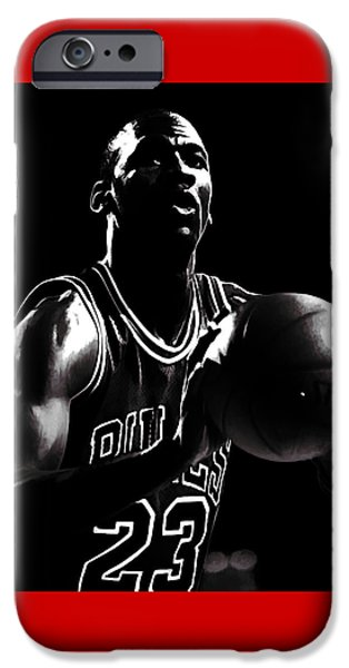 Charles Barkley iPhone Cases - Air Jordan Every Point Coubts iPhone Case by Brian Reaves