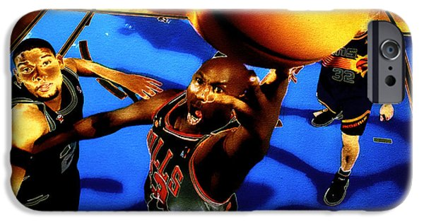 Allstar iPhone Cases - Air Jordan Finger Roll iPhone Case by Brian Reaves