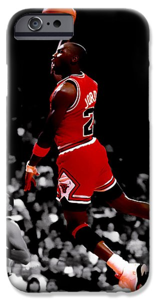 Charles Barkley iPhone Cases - Air Jordan Flight Path iPhone Case by Brian Reaves