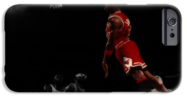 Charles Barkley iPhone Cases - Air Jordan Glide iPhone Case by Brian Reaves