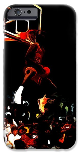 Dunk Mixed Media iPhone Cases - Air Jordan in Flight 04c iPhone Case by Brian Reaves