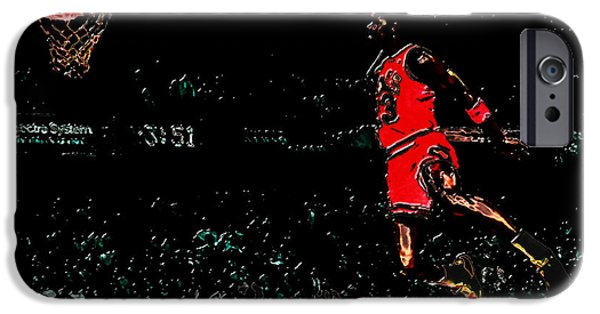 John Stockton iPhone Cases - Air Jordan In Flight 3g iPhone Case by Brian Reaves