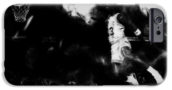 Patrick Ewing Paintings iPhone Cases - Air Jordan in Flight II iPhone Case by Brian Reaves