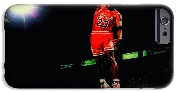 Charles Barkley iPhone Cases - Air Jordan Nasty Slam iPhone Case by Brian Reaves