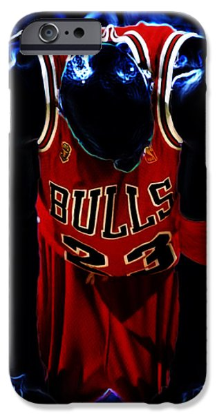 John Stockton iPhone Cases - Air Jordan Never Quit iPhone Case by Brian Reaves