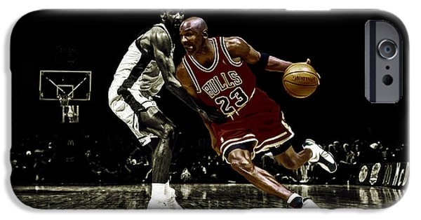 Dunk Mixed Media iPhone Cases - Air Jordan Shake iPhone Case by Brian Reaves