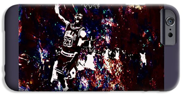 John Stockton iPhone Cases - Air Jordan Slam in the Paint iPhone Case by Brian Reaves
