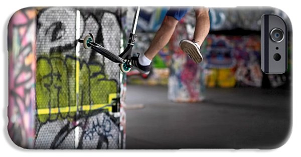 Skate iPhone Cases - Airborne at Southbank iPhone Case by Rona Black