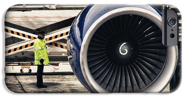 Airliner iPhone Cases - Airbus Engine iPhone Case by Stylianos Kleanthous