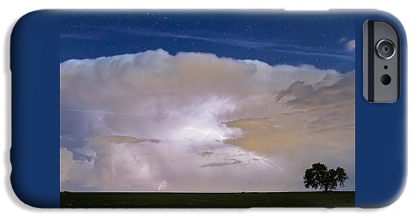 Jet Star iPhone Cases - Airliner Lightning Strikes iPhone Case by James BO  Insogna