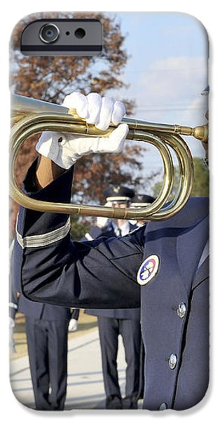 Airman Plays Taps During The Veterans iPhone Case by Stocktrek Images