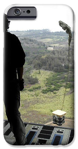 Airman Watches A Practice Bundle Fall iPhone Case by Stocktrek Images