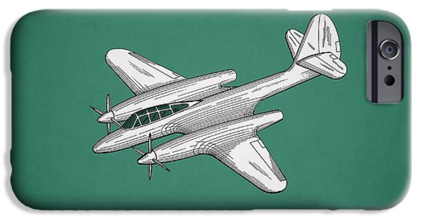 Flight iPhone Cases - Airplane Patent 1942 iPhone Case by Mark Rogan