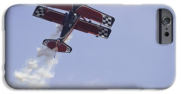Trick iPhone Cases - Airplane Performing Stunts At Airshow Photo Poster Print iPhone Case by Keith Webber Jr