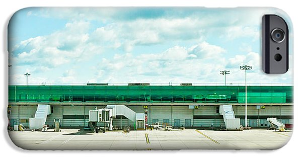 Asphalt iPhone Cases - Airport terminal iPhone Case by Tom Gowanlock