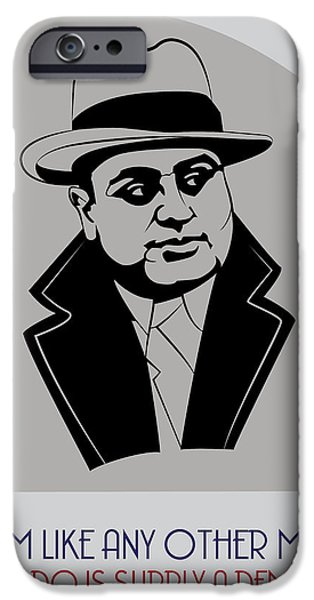 Alcatraz iPhone Cases - Al Capone Poster Art iPhone Case by Florian Rodarte