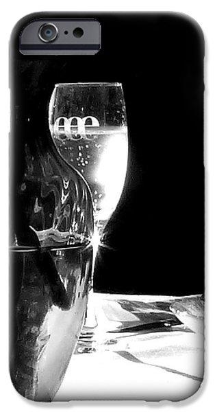 Table Wine iPhone Cases - Al Fresco Sparkle iPhone Case by Lori Seaman