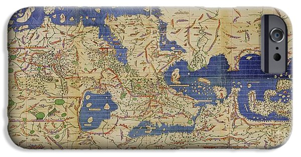 Science Collection - iPhone Cases - Al Idrisi World Map 1154 iPhone Case by SPL and Photo Researchers