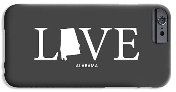 University Of Alabama iPhone Cases - AL Love iPhone Case by Nancy Ingersoll