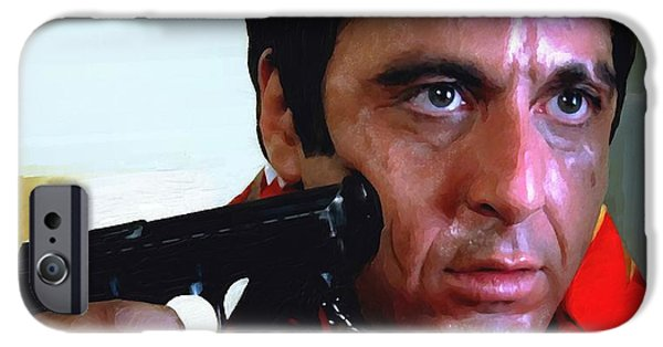 Al Pacino iPhone Cases - Al Pacino @ Scarface #1 iPhone Case by Gabriel T Toro