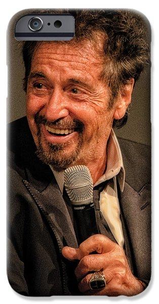 Al Pacino iPhone Cases - Al Pacino iPhone Case by Justin Harris