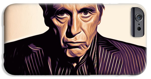 Al Pacino iPhone Cases - Al Pacino iPhone Case by Larry Espinoza