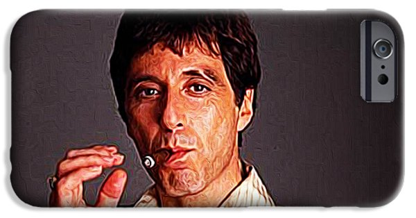 Robert De Niro Digital iPhone Cases - Al Pacino iPhone Case by Queso Espinosa
