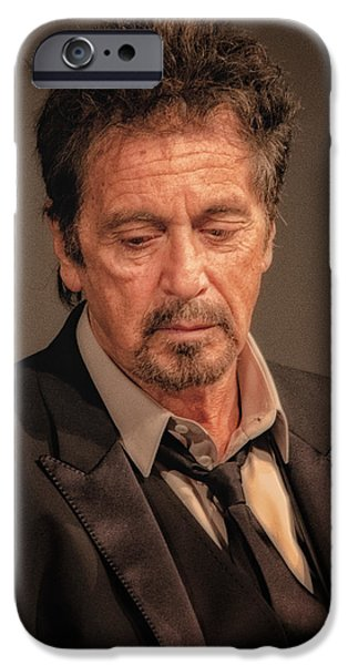 Al Pacino iPhone Cases - Al Pacino Reflects iPhone Case by Justin Harris